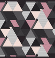 geometrical mosaic pattern grey pink and vector image