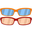 cartoon icon poster sport glasses spectacles red vector image
