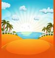 cartoon summer beach landscape vector image