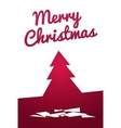Cut out Paper Christmas tree vector image