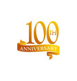 100 year ribbon anniversary vector image