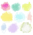 Abstract Halftone Backgrounds Set of vector image vector image