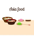 Asia food vector image