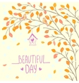 beautiful branch vector image vector image