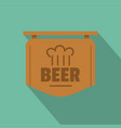 beer label icon flat style vector image vector image
