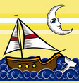 boats in the sea 2 vector image vector image