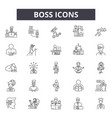 boss line icons signs set outline vector image vector image