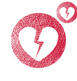 Broken heart simple single color icon isolated on vector image vector image