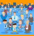 businessmen or men cartoon characters group vector image vector image