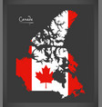 canada map with canadian national flag vector image vector image
