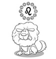 cartoon dog as leo zodiac sign vector image vector image