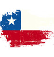chilean scratched flag vector image