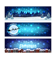 Christmas banners with night winter sky vector image vector image