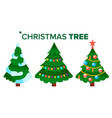 christmas tree holiday decoration winter vector image vector image