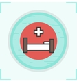 Clinic bed icon vector image vector image