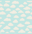 cloud pattern cloudy sky seamless backround vector image vector image
