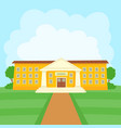 color of school building on vector image