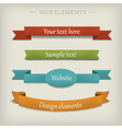 Colored ribbon elements for web vector image vector image