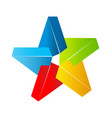 colorful star shape symbol vector image vector image
