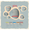 Creative web design bubbles in vintage style vector image