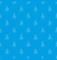 cut fir pattern seamless blue vector image vector image