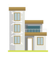 cute cottage brick house vector image vector image