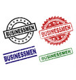 damaged textured businessmen stamp seals vector image vector image