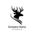 deer logotype vector image vector image