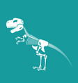 dinosaur skeleton isolated remains of vector image vector image