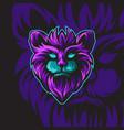 elder dark cat vector image vector image