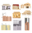 flat Building under construction Building vector image vector image
