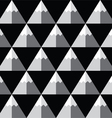 Geometric monochrome seamless mountain pattern vector image vector image