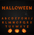 halloween brush painted alphabet vector image vector image