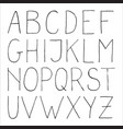 hand drawn decorative uppercase letters vector image