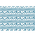 hand drawn doodle style waves seamless vector image