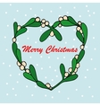 Hand drawn of mistletoe sprigs vector image vector image