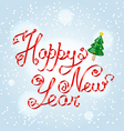 Happy New Year greetings lettering