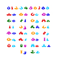 Hilarious comic alphabet vector image vector image