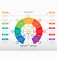 infographic technology or education process vector image