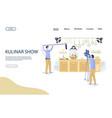 kulinar show website landing page design vector image vector image