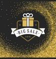 label or tag design on gold background vector image