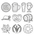 line art black and white 10 oktoberfest elements vector image