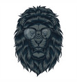 lion head eyeglasses vector image vector image