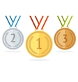 Medal Set Flat Style vector image