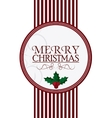 merry christmas label design vector image vector image