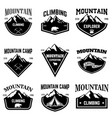 mountain camp emblem templates design element for vector image vector image
