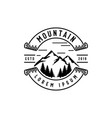 mountain in badges logo design vector image
