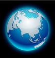 Neon Earth - Eurasia vector image vector image