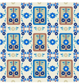 oriental style seamless pattern vector image
