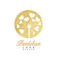 original logo design of dandelion flower natural vector image